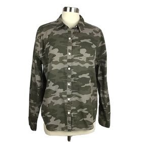Universal Thread  XL Button Front Camo Print Shirt